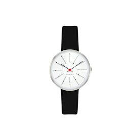 【ポイント3倍!】ARNE JACOBSEN(アルネ・ヤコブセン) 腕時計 BANKERS バンカーズ 30mm ホワイト&シルバー×ブラックレザー