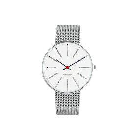 【ポイント3倍!】ARNE JACOBSEN(アルネ・ヤコブセン) 腕時計 BANKERS バンカーズ 40mm ホワイト&シルバー×シルバーメッシュ