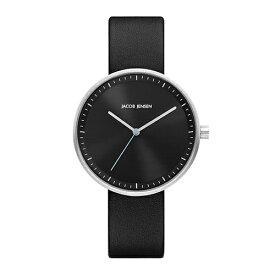 Jacob Jensen(ヤコブ・イェンセン)腕時計 Strata(ストラタ)O36ブラックケース×ブラックレザー