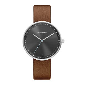 Jacob Jensen(ヤコブ・イェンセン)腕時計 Strata(ストラタ)O36グレーケース×ブラウンレザー
