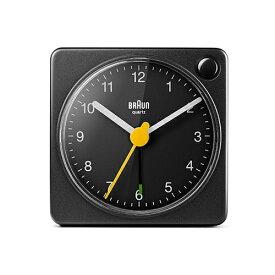 【お買い物マラソン開催中!最大2000円OFFクーポン!ポイント最大25倍 7/11 01:59まで】BRAUN(ブラウン)置時計 Alarm Table Clock BC02XB 57mm ブラック