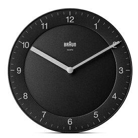 【お買い物マラソン開催中!最大2000円OFFクーポン!ポイント最大25倍 7/11 01:59まで】BRAUN(ブラウン)「Wall Clock(ウォールクロック)996BC06B」ブラック