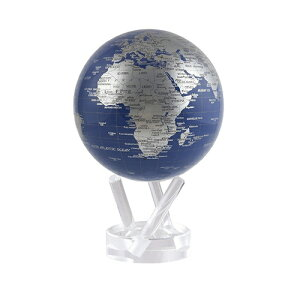 【ポイント2倍!】MOVA 地球儀 MOVA Globe(ムーバ・グローブ)Φ11cm ブルーシルバー