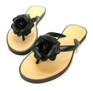 ビーチサンダルビジューラインストーンフラットサンダル柔らかく歩きやすいフラットサンダルきらきらラインストーンで美脚を演出フラワー付きアウトレット価格