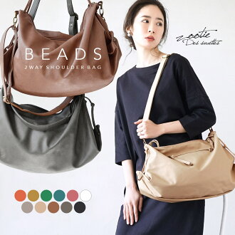 """It is a longtime seller with a shoulder bag grace state. """"Usability"""" this as for the reason and """"the lack of the habit!"""" A feeling of size that is most suitable for an everyday daily bag. Lady's bag bag ◆ beads 2WAY shoulder bag [standard]"""