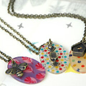 Just rest! Cute handmade feel with plenty of original necklace remake women's dress casual toy store Rakuten [selectfabricacrylaxesally [pendants]