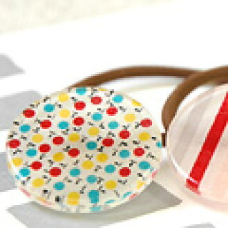 Select fabric acrylic accessories [hair rubber]