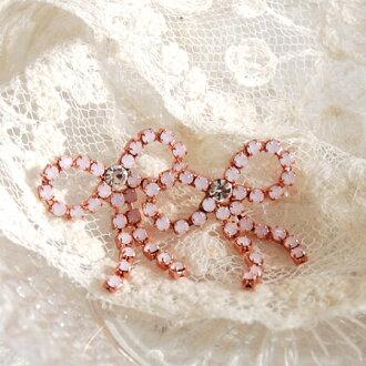Virgo love Ribbon! Even gorgeous earrings glittering rhinestone tip swinging ゆれと! cute! Barzun's presence regardless of age, who worked in the party scene Ribbon earrings ◆ Ju lianne earrings