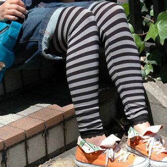 Stretch horizontal stripe race spats