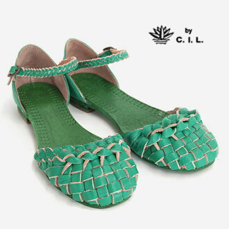 "●●Even a low heel is an ankle strap; in the step femininity! The ""sea eye L"" cowhide which I wash it, and gave processing that is popular in a leather item is real leather handmade product sandals ◆ C.I.L. of a knit braid belt carefully: Mesh a"