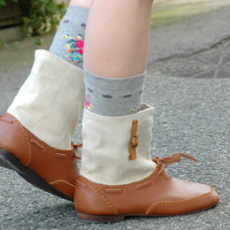 A natural combination of leather and jute cotton ♪ beautifully handmade is cool can enjoy comfortable short boots オールシーズンオシャレ boots style toggle boots / spring boots ◆ Diu ( Diu ): コットンジュートレザー short boots
