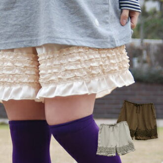 Underwear shorts ◆ w closet of the magic improving a young girl degree at a stretch that the short pants of the cloth with the glossiness can regulate the waist a little and can mix-and-match as petticoat underwear that the appearance was silky from ♪ do