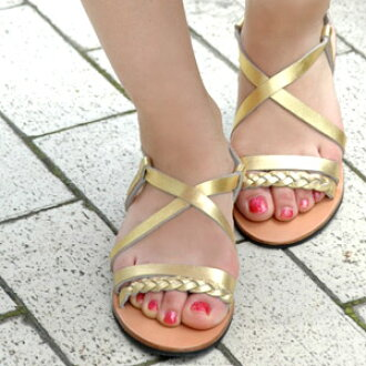 The real leather leather sandals which are outstanding in metallic color conspicuously! Orthodox school sheep leather strap sandals /fs3gm ◆ C.I.L. (sea eye L) where a braid X crossed with good sheep leather of the skin familiarity softly, and hold did a