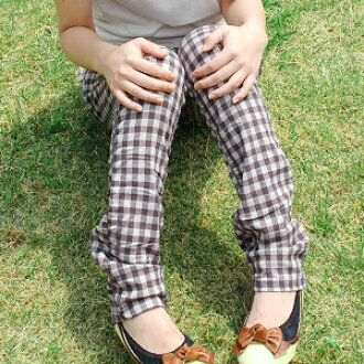 Is there beautiful leg & small buttocks effect in クシュクシュ effect and a stylish hip pocket? !Gingham checked pattern underwear! ◆ クシュクシュギンガムチェックタックスリムパンツ to be able to wear for leggings sense because stretch works, and there is a feeling of fitting