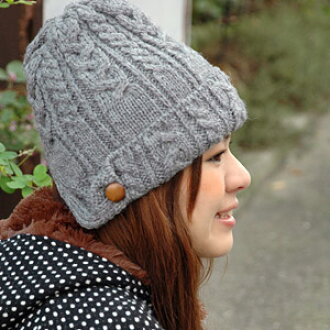 Good-quality ニットワッチ with the ear cover using BRITISH WOOL of the home U.K.! Ear muffler wool 100% knit hat ◆ CLIPPER CASUALS (casual a clipper) with the guarantee of quality of the British wool public corporation stick mark not to need: British wool trap
