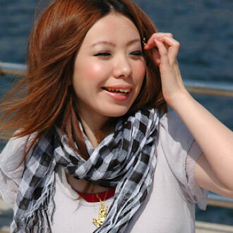 The block check stall that is usable from a natural to casual clothes widely! ◆ Petica (pechka) most suitable for ultraviolet rays measures and indoor air conditioner measures as for the shawl that クシュクシュ っとした voluminous feel is unbearable: Natural gingh