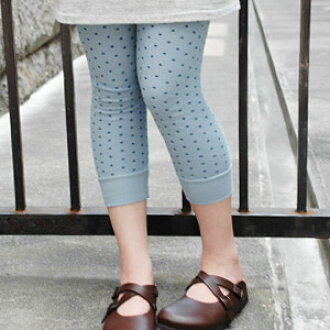 Natural girl not to be missed! Length made of tortoiseshell waffle fabric 100% cotton lined up on the tiny dot pattern pattern leggings! Unique to Japan-made for sewing a polite and Hardy, boast 8-10ths ◆ Saintete ( Sun Tete ): mizutama waffle regions