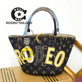 It is casual and is cool. The handbag bag of the denim subject matter that the western-like decorations shine in! Lady's bag bag ◆ RODEO TAILORS (rodeo Taylors): Rodeo monogram bucket tote bag
