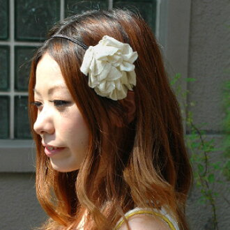 Sew flower motifs like a corsage headband! Ideal for hair hair accessories headband hairband more delicate! Casual style and party scene a little recommended ◆ カットソーフラワーカチューシャ