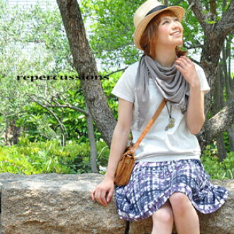 Check prints such as painted in watercolor painting is cute personality faction flared skirt! Of the adult casual style perfect for beautiful gradient color Plaid ones インパクトボトムス ◆ repercussions ( リパークションズ ): mist check skirt