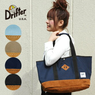 American bag brand Drifter capacity 23 L メガトート! The combination of durable nylon fabric with leather suede leather! Commuter school mothers bag ◆ Drifter ( drifter ): ナイロンカーゴラージトート bags