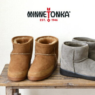 Minnetonkaminetonca ankle-length Shearling boots ANKLE HI PUG BOOT slip-on sense ◎ sheep leather genuine leather real leather ankle boots PAG beats handmade boots leather • MINNETONKA (Minnetonka): Sheepskin very short boots