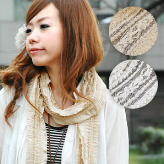 Antique lace-like atmosphere will charm sweet & romantic a stall! Imbued with the maiden degree get me Chau up jerk! Mori girls style is: Cute Girly shawl look gently CHOW ◆ ロマンティックシュガー lace scarf