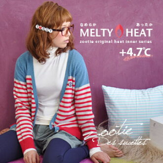 Elevation 4.7 ° c type heat inner ♪ electrostatic prevention ingredients. ソフトウォーム thin / basic / solid / cold / long sleeve / insulation / harmonic wet / ladies and two tailored ◆ Zootie ( ズーティー ): sale ☆ メルティヒートタートルネックロングカットソー ☆