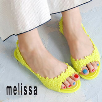 Stylish B sun ◆ melissa (Melissa) which flower ぺたんこ pumps beach sandal SP AD import Lady's shoes shoes 30597 rubber has a cute: Flower tong backstrap rubber sandals [FLOWER +ISABELA CAPETO] << outlet article >>