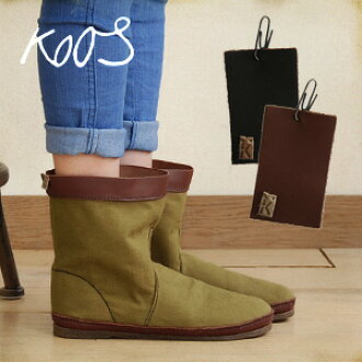 Instant delivery! Cotton canvas x Verde Verde leather use Koos new /color:verde tapas tapas /size:35 36 37 38 39 40 41 ◆ Koos (course) :ian-S CO-PU イアンコットンプルアップレザー short boots