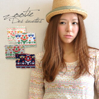 The almighty item which is an affordable price it is out, and to be able to use whole pattern Ron Tee ♪ always different where a flower pattern was drawn by the touch such as the jacquard texture for an inner in soft comfort! / Lady's / round neckline ◆