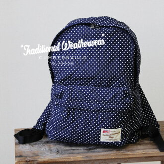 The TraditionalWeatherwear popular キルトリュック cotton dot pattern Ver... appeared! Macintosh / polka dot pattern /DAYPACK bags /BAG / /MACKINTOSH ◆ Traditional Weatherwear traditional weather ( were ): キルティングリュック suck [dot]