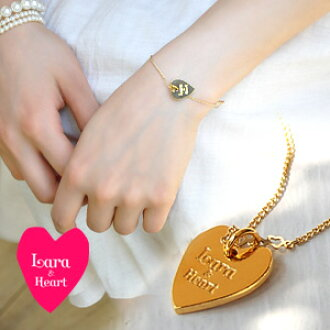 Is casual for the heart that a brand logo of the LARA & heart is distorted; on a wrist! Bracelet of the feminine gold-collar! ◆ Lara & Heart (LARA and heart) which prettiness perfect score Lady's has a cute with a heart chain: Heart plate bracelet