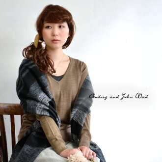 Containing wool, worn in shirt sense warmth and sheer sweater. Like an adult sized, compact and simple design also ease-of-use: plain / ladies / ◆ ☆ sale ☆ Audrey and John Wad ( オードリーアンドジョンワッド ) V ネックライトニットプル over