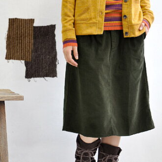 Brno autumn/winter, knee-length corduroy skirt of ♪ momotarō & dates & adjustment tied! / Lenght / Keystone / knee / / solid / MIDI-length half-height / / a line call heaven and sheer ◆ mayercorduroymidi skirt