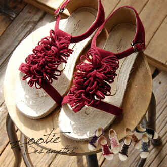 Flower and Ribbon as not sweet, a Bush I and faced leather race that MO was corsage with pettanko pettanko jute sandals. Underfoot women's shoes will be heavy ◆ Zootie ( ズーティー ): ループフラワーフラットエスパドリーユ sandals