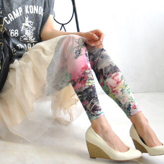 Bright, bold floral spats, such as paintings, such as photos. Makes such as asymmetrical color scheme timeless presence. In the spring and summer just thin, dry and wear comfortable legwear ◆ collageartflowerreggins