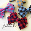 Slightly brushed feeling is somehow gentle Plaid Ribbon hair accessories. Easy scissor clip specifications, easy-to-plus to your clothes, scarf, bag ◎ / hairpin / Barrette ◆ Zootie ( ズーティー ): カラフルギンガムチェックリボンヘア clip