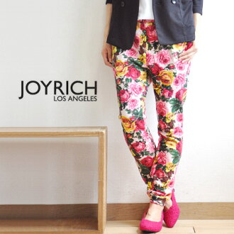 Colorful and ornate, bold. Mickey Mouse No1 seems to be large rose pattern textile sweat pants. The rise of deep beautiful tapered lines and big floral / women's full length /FEMME/JOY-F1260PT ◆ JOY RICH ( Mickey Mouse No1 ) Hillside Rose Sweet Pant