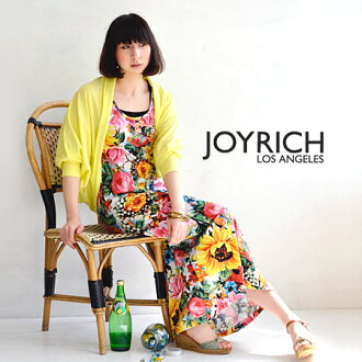 Colorful タンクワン pieces of painted large florals such as sunflower saryu 'サンライズブロッサム' pattern sleeveless Maxi dress / long-length /JOY-F1312OP ◆ JOY RICH ( Mickey Mouse No1 ) :Sunrise Blossom Tank Dress