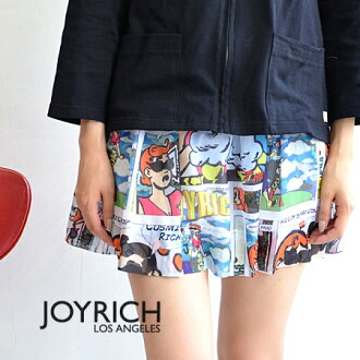 The flared skirt which colorful candy Komi pattern was drawn on! In the fastener specifications that are cool as for the JOYRICH ならでは ♪ waist rubber & front as for the individual textile, tops in ◎ / mini-length /JOY-F1309SK/fs3gm ◆ JOY RICH (Joey Ri