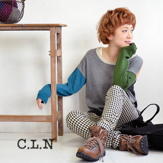 Total colors showcase trend color scheme from simple plain cotton knit sweater. Dressed in one piece without resistance like relaxed silhouette & sizing/women's / long sleeve / spring knit ◆ C.L.N( シーエルエヌ ): ミモエライトニットドロップショルダープル over