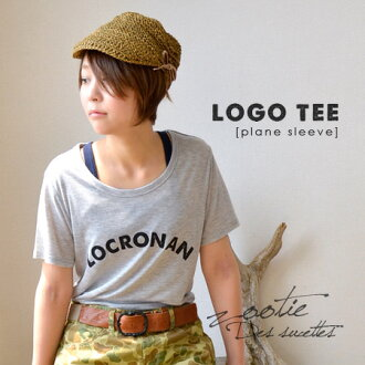 After all logo Tee is a space! Short-sleeved tunic T-shirt / Lady's ◆ zootie (zoo tea) of the beautiful silhouette only by rayon material & thin cut-and-sew which was thick on a discerning original English letter print: LOCRONAN logo T-shirt [basic]