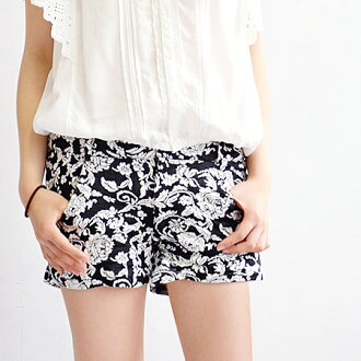 The hot pants with full of luxurious atmospheres. Short length underwear / Lady's / micromini /fs3gm ◆ art deco flower short pants compact clearly using the jacquard cloth which is full of the expressions with the three-dimensional impression