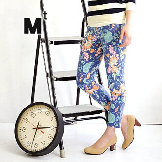 Boasts a little different from others, such as MIX tropical flower floral ♪ rich in elastic polyurethane 5% コットンレギンスパンツ / skinny pants and stretch pants / パギンス / slim / tight ◆ Mt ( Mt ) ビリアフラワーツイルレギンス