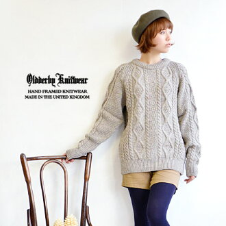 "The traditional alane knitting knit pullover / long sleeves /CREW NECK ARAN/fs3gm ◆ OLD DERBY KNITWEAR (old Derby knitwear) crew neck alane knitwear which is brought back to the origin of ""the sweater"" which adopted wool knit from U.K."