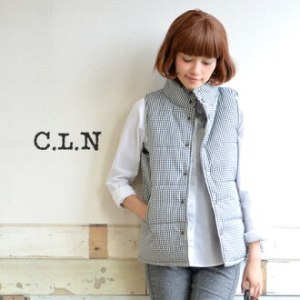 Batting best cute pattern, plain casual. Neckline excellent protection against the cold & warm in the dual structure of the armhole! wear in a casual sense of size a moderately easy to turn! And wind down vest / Cape ◆ C.L.N( シーエルエヌ ): toddlers filli
