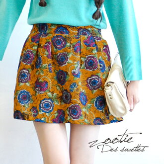 The impressive floral design skirt with full of nostalgic feelings. The refined silhouette which the wide box pleat was in. ◎ / flared skirt ◆ Zootie (zoo tea) OK in 後 ろ waist rubber, a front flat as for the tops in: Altair flower flare miniskirt