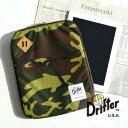 強度と耐久性抜群の1000デニールコーデュラナイロン使用したタブレットケース!アイパッドが収納可能 保護パッド タブレットカバータブレットPC カモフラ 迷彩◆Drifter(ドリフター)iPadケー