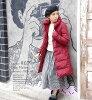降低大衣羽毛衣臨月的孕婦給附帶嬰兒披肩的媽媽套上包層的女士外衣長降低長袖子妊婦暖和的◆zootie(動物園球座):Diary氣球彩色降低長大衣[從屬于達卡]